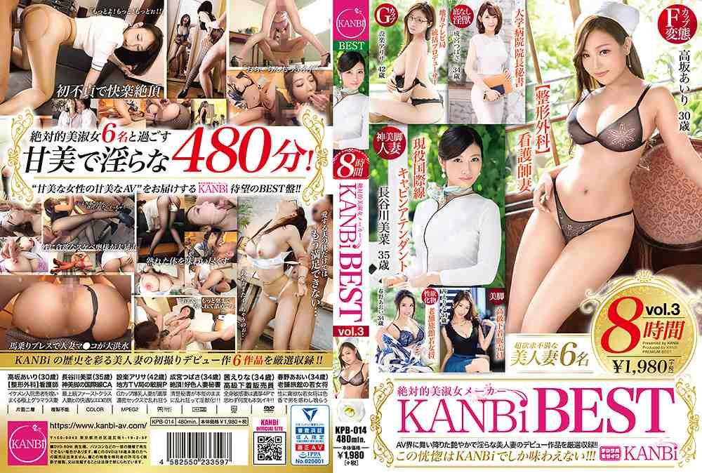 絶対的美淑女メーカー KANBi BEST 8時間 vol.3 KANBiの歴史を彩る美人妻の初撮りデビュー作6作品を厳