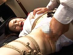 麻縄で縛られバイブでイかされる女子校生たち2